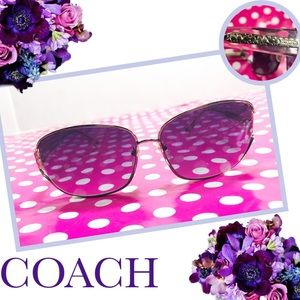 COACH Alyssa S565 Crystal Sunglasses & Case